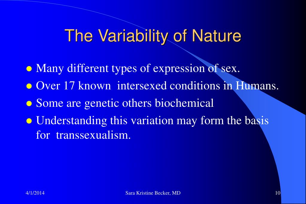 The Variability of Nature