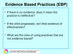 evidence based practices ebp