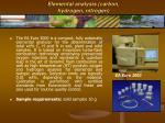 elemental analysis carbon hydrogen nitrogen