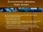environmental laboratory water division