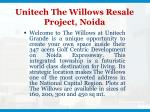 unitech the willows resale project noida