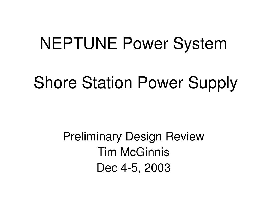 neptune power system shore station power supply l.