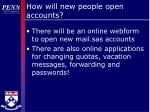 how will new people open accounts