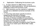 4 application calibrating the business cycle