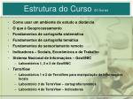 estrutura do curso 40 horas