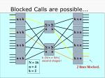 blocked calls are possible