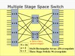 multiple stage space switch