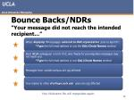 bounce backs ndrs your message did not reach the intended recipient