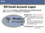 em email account logon