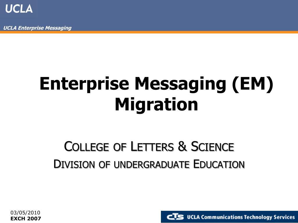 enterprise messaging em migration l.