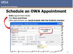 schedule an owa appointment25