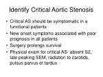 identify critical aortic stenosis