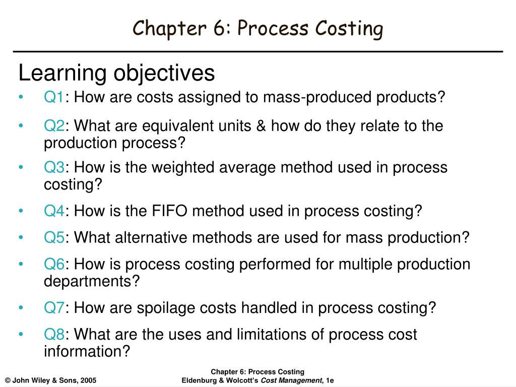 chapter 6 process costing l.