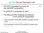 q2 q4 cost per equivalent unit