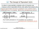 q2 the concept of equivalent units