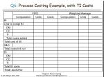 q6 process costing example with ti costs36