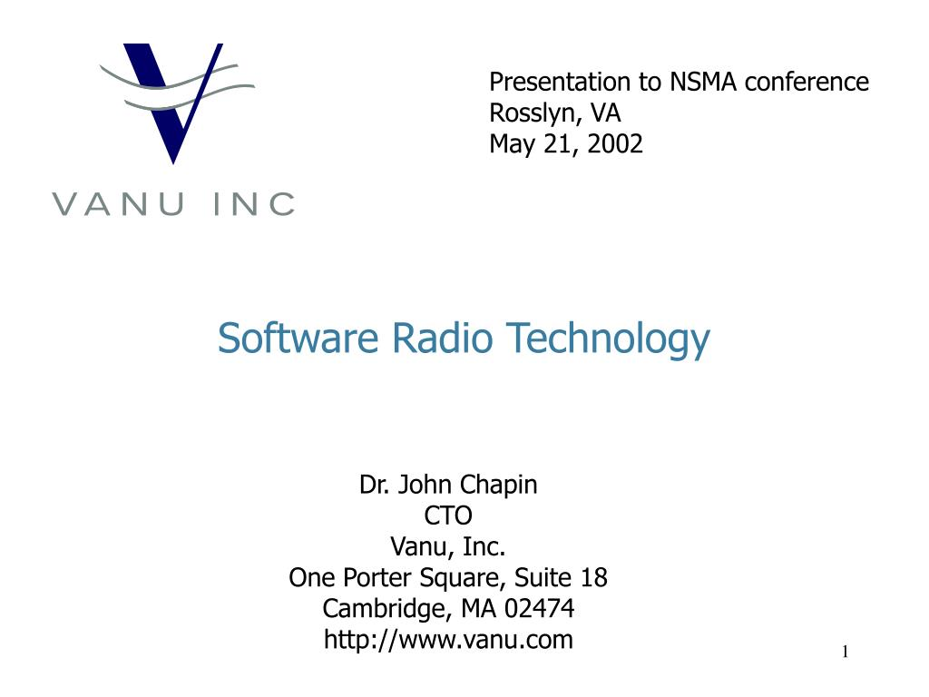 software radio technology l.