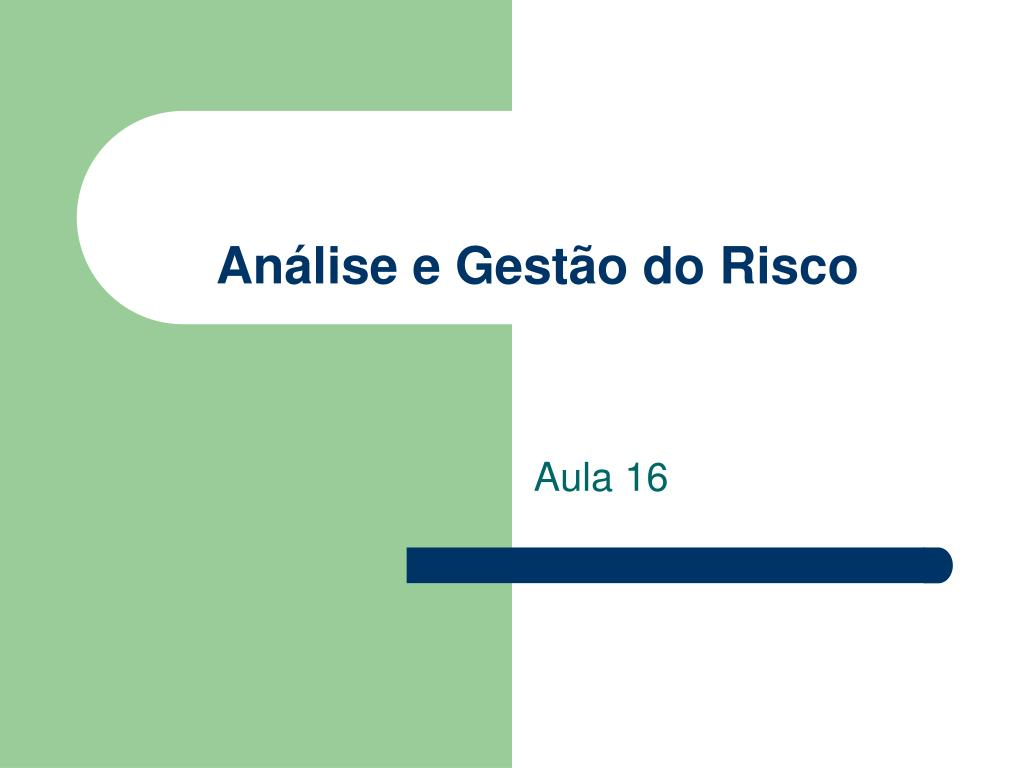 an lise e gest o do risco l.