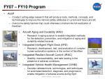 fy07 fy10 program