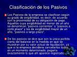 clasificaci n de los pasivos