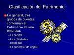 clasificaci n del patrimonio