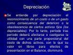 depreciaci n