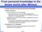 from personal knowledge to the dream world after memex