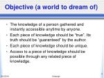 objective a world to dream of