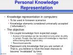 personal knowledge representation