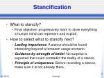 stancification