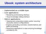 ubook system architecture