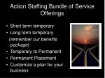 action staffing bundle of service offerings