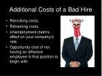 additional costs of a bad hire