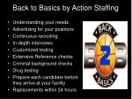 back to basics by action staffing
