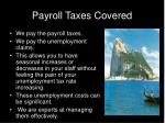 payroll taxes covered