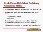 grade eleven high school proficiency assessment hspa