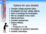 options for your student
