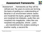 assessment frameworks