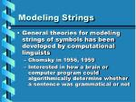 modeling strings