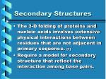 secondary structures