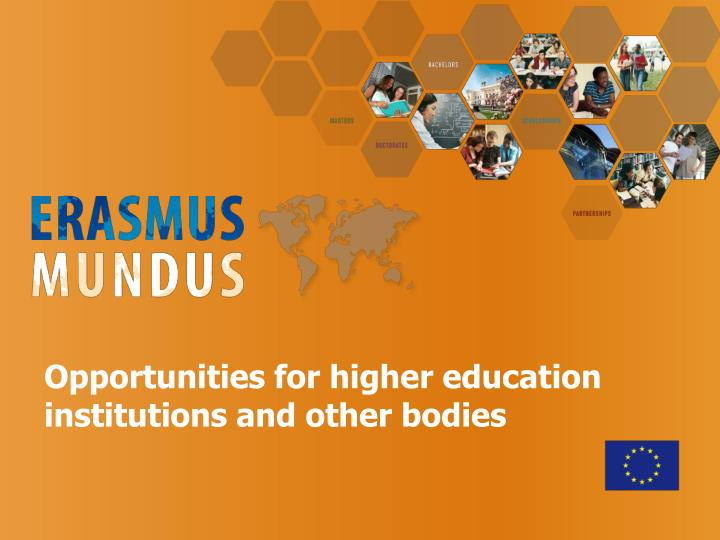 Opportunities for higher education institutions and other bodies