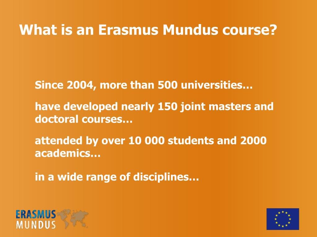 What is an Erasmus Mundus course?