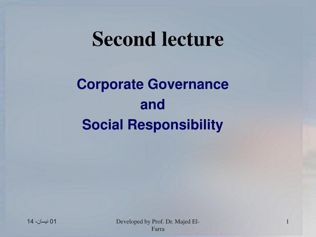 second lecture l.