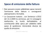 spese di emissione della fattura