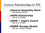lottery scholarships in tn
