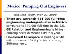 mexico pumping out engineers
