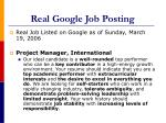 real google job posting