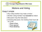 motions and voting