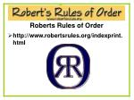 roberts rules of order40
