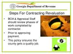 steps for contracting revaluation30